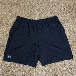 Under Armour Black Shorts Heatgear Loose Fit